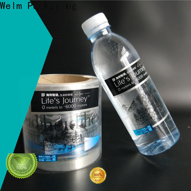 Welm shiny order printed labels glossy laminated label for bottle