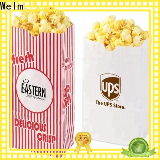Welm handle paper bags with handles with die cut handle for gift shopping