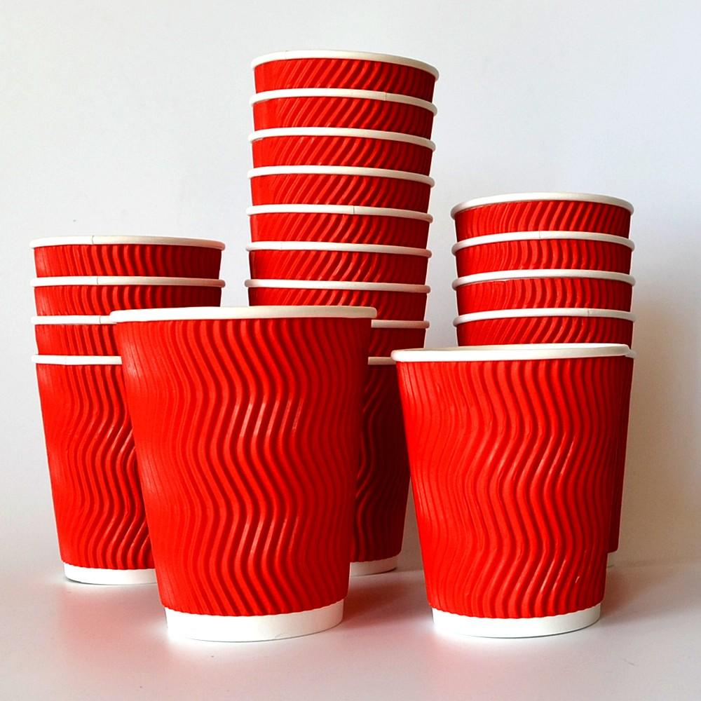 Biodegradable ripple wall paper cup for hot coffee cups