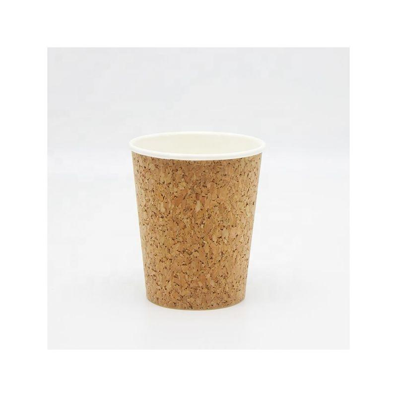8oz 12oz 16oz 22oz 24oz Custom cork premium coffee disposable thickened cork paper cup