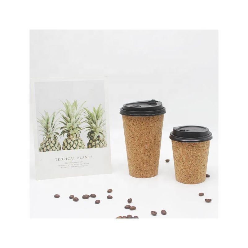 8oz 12oz 16oz 22oz 24oz Custom cork premium coffee disposable thickened cork paper cup