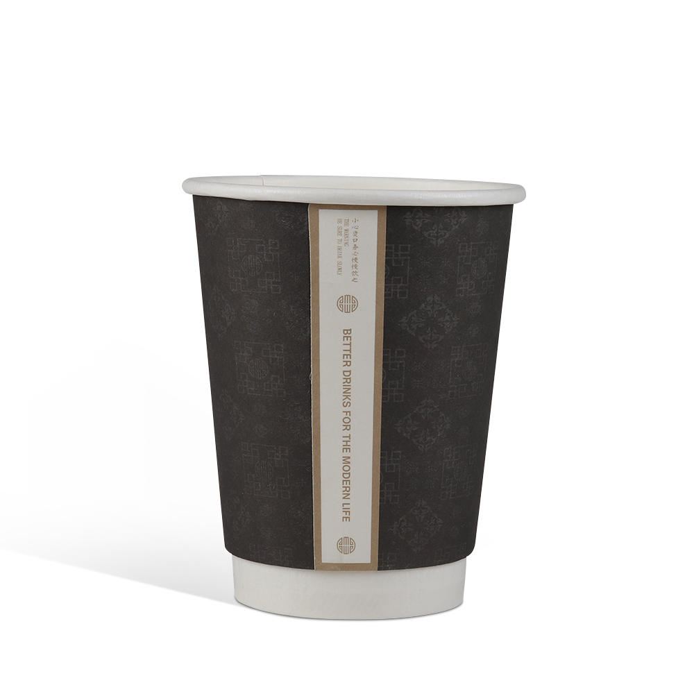 8/10/12/16/22/24 oz Customized Logo Eco-friendly PE Coating Paper cup disposable coffee cups with Lid