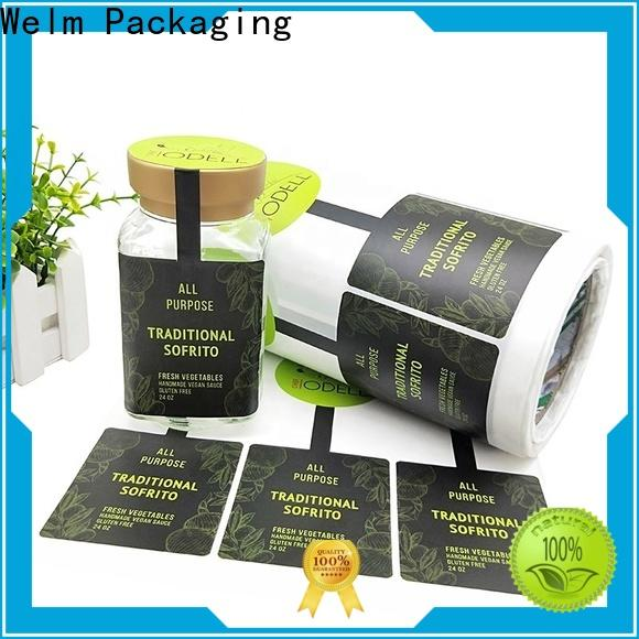 Welm gold product label stickers company for sale