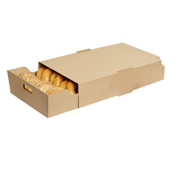 Custom logo printing corrugated paper food packaging box for catering