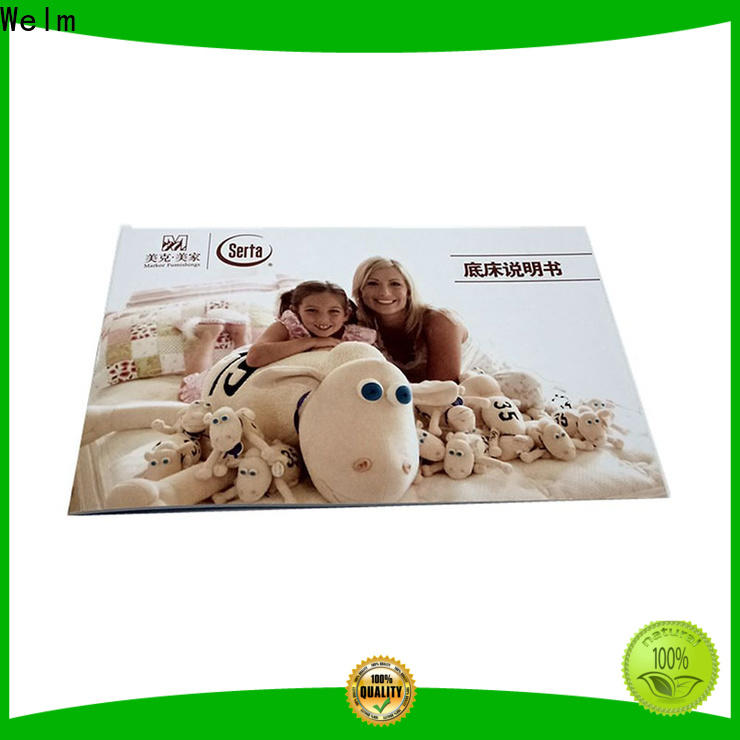 Welm high-quality 4 fold brochure paper instruction manual for business