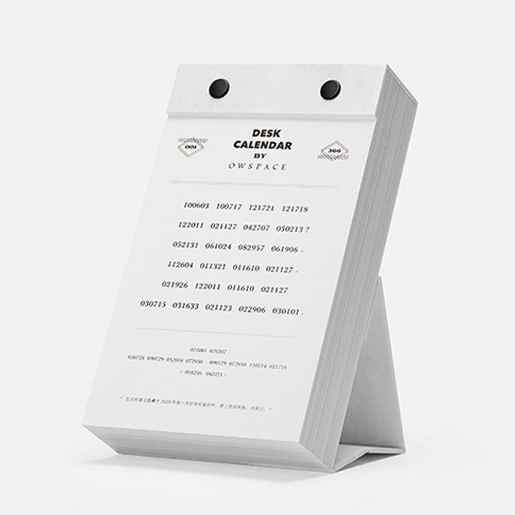 Creative Advertising 365 day calendar printing custom small desktop calendar