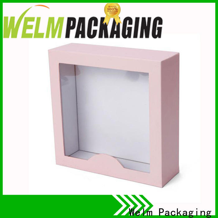 Welm printed gift boxes wholesale windows for lip stick