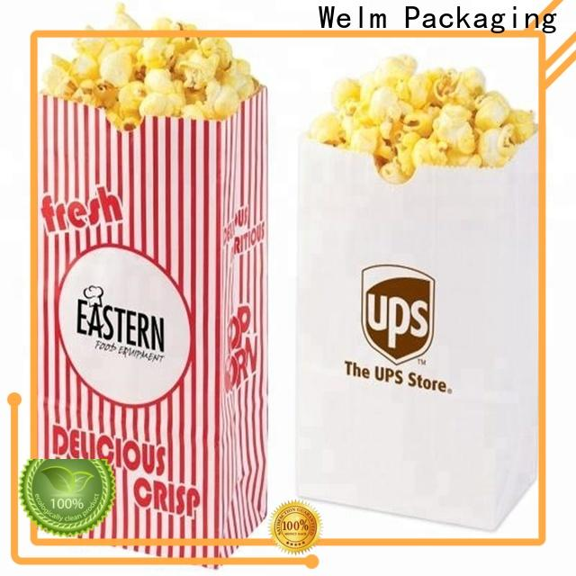 Welm paper discount paper bags wholesale with die cut handle for gift shopping