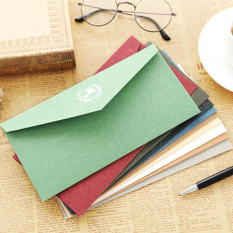 Custom Foil Stamping Greeting Gift Card Paper Envelope
