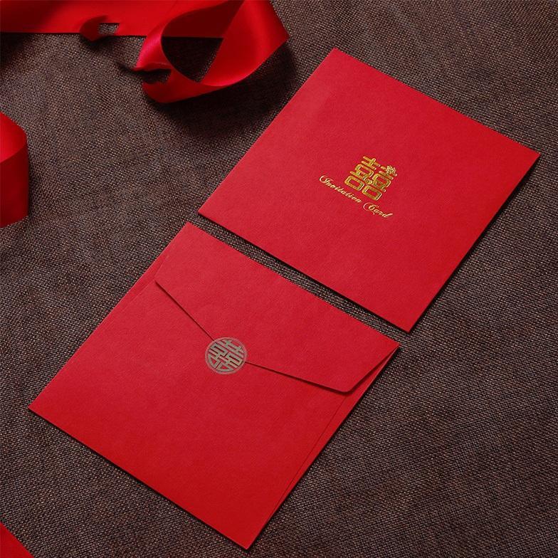 Custom Wedding Red Packet Gift Card Envelope Printing