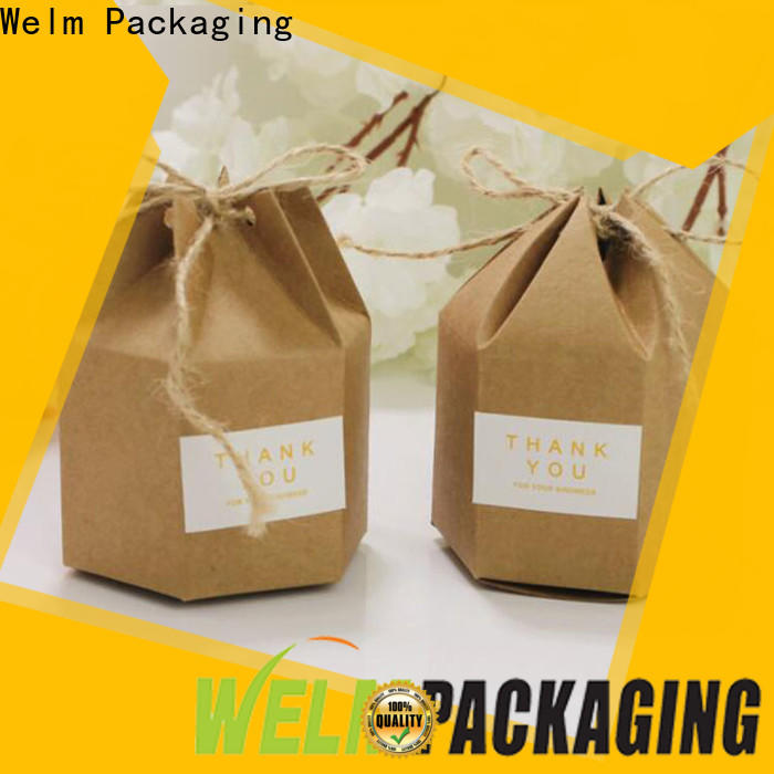 Welm latest packaging box supplier manufacturer for gifts