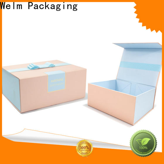 Welm wholesale large magnetic gift box closure for gift