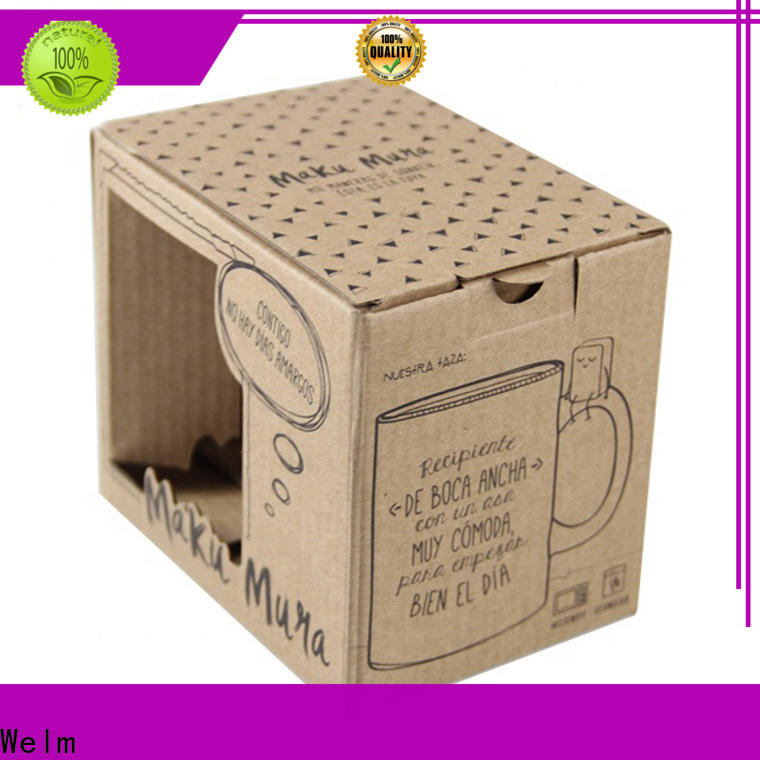 Welm product box packaging with window for lip stick