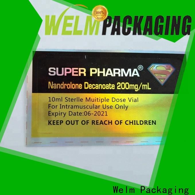 Welm three layer package labels stickers supplier for storage