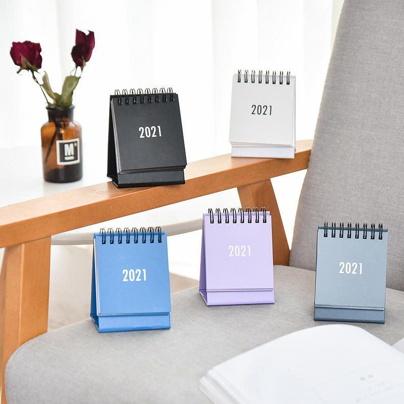 Custom Design Printing Mini Small Size Colorful  Desk Table Paper Calendar