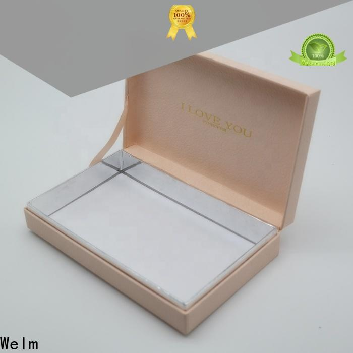 Welm paper gift boxes wholesale windows for necklace