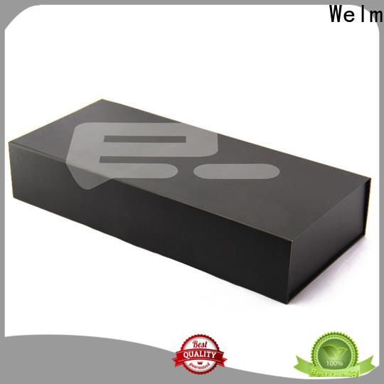 Welm magnetic box packaging with ribbon for necklace
