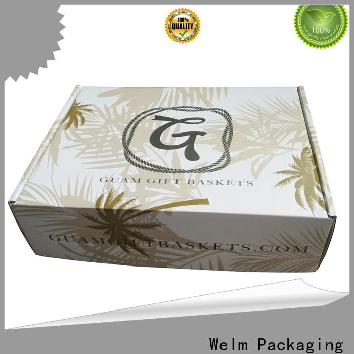 Welm high-quality box carton packaging with hot satmp logo for ear ring