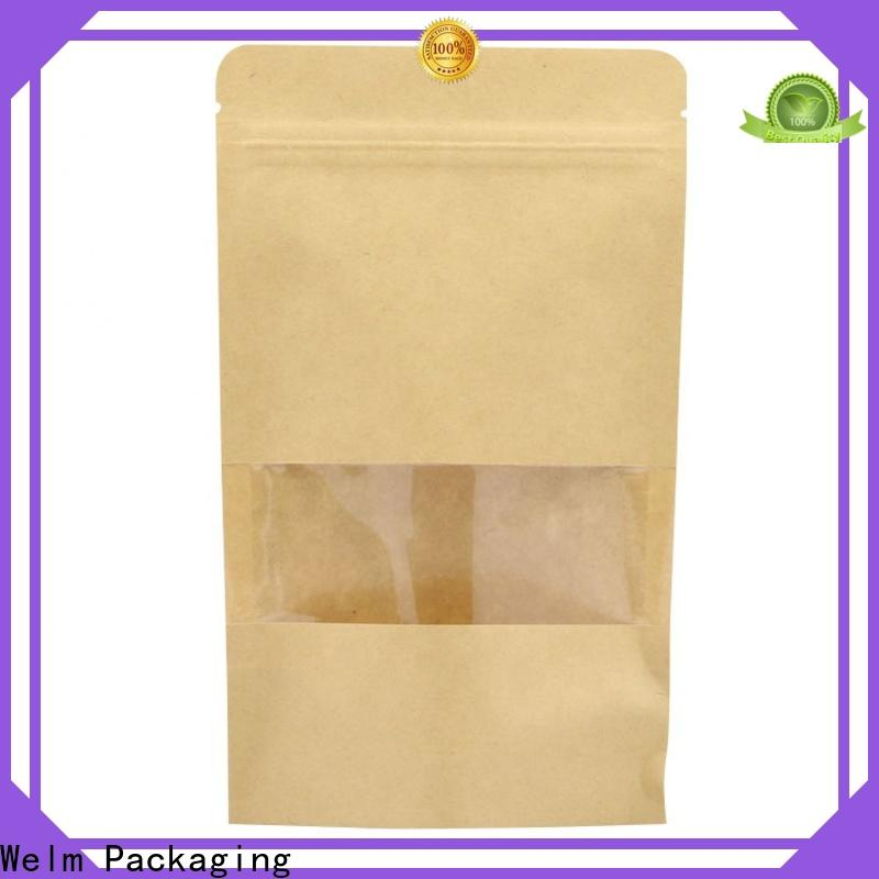Welm craft small brown paper gift bags with handles logo for gift shopping