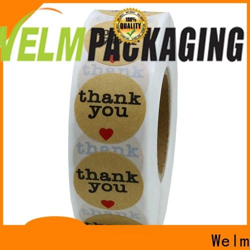 Welm label small sticky labels glossy laminated label for bottle