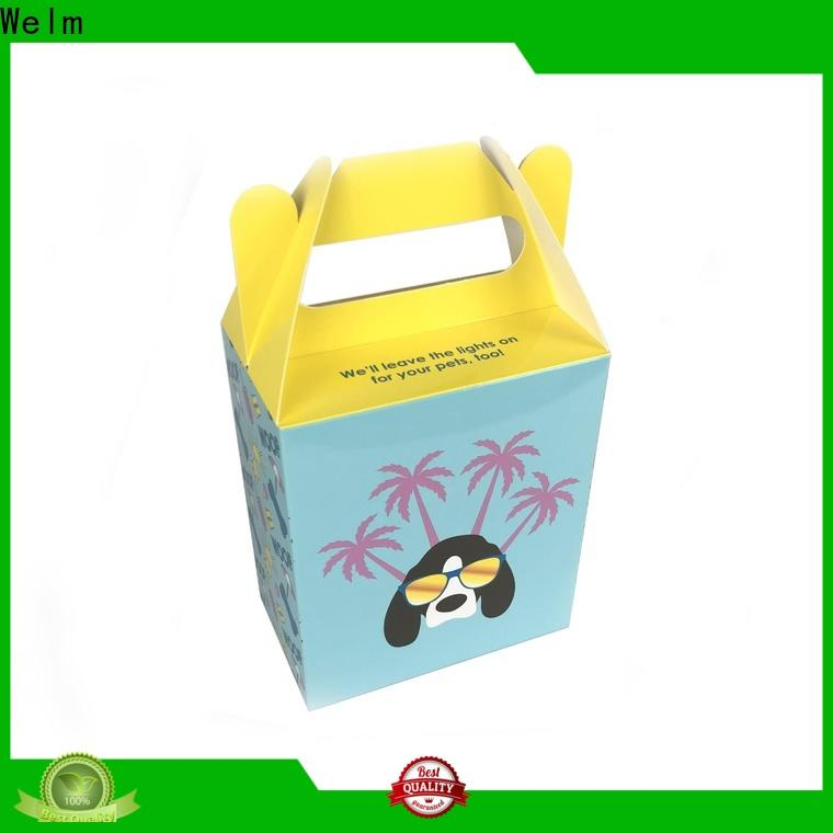 Welm eco friendly food packaging with color printed food grade material for pet food