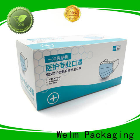 Welm drug paper box packaging online for facial cosmetic