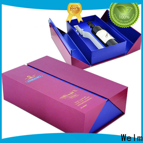 Welm hot stamp logo box packaging handmade for necklace