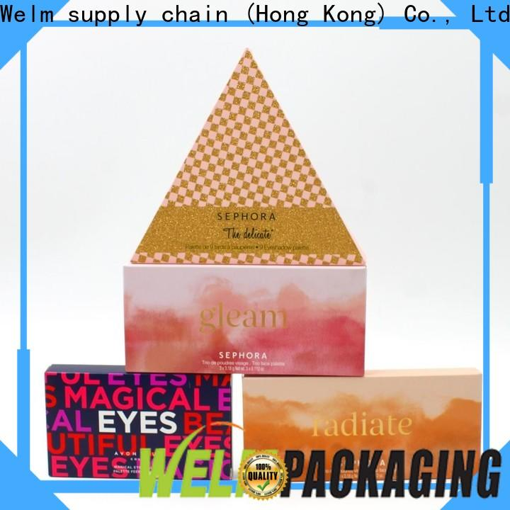 Welm packing custom printed shipping boxes wholesale with pvc window for sale