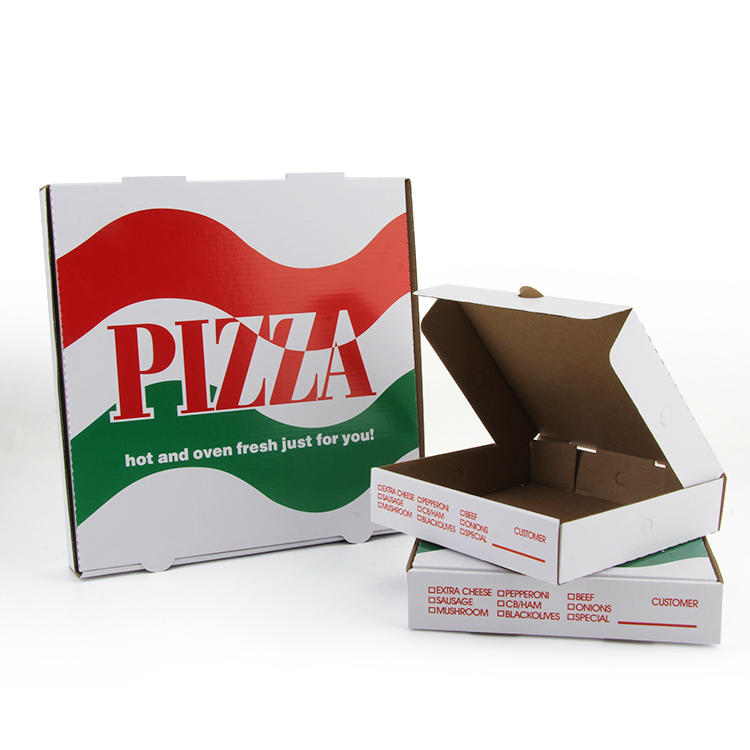 China factory High Quality custom Logo Paper pizza box custom printed Corrugated Pizza Box with colorful printing