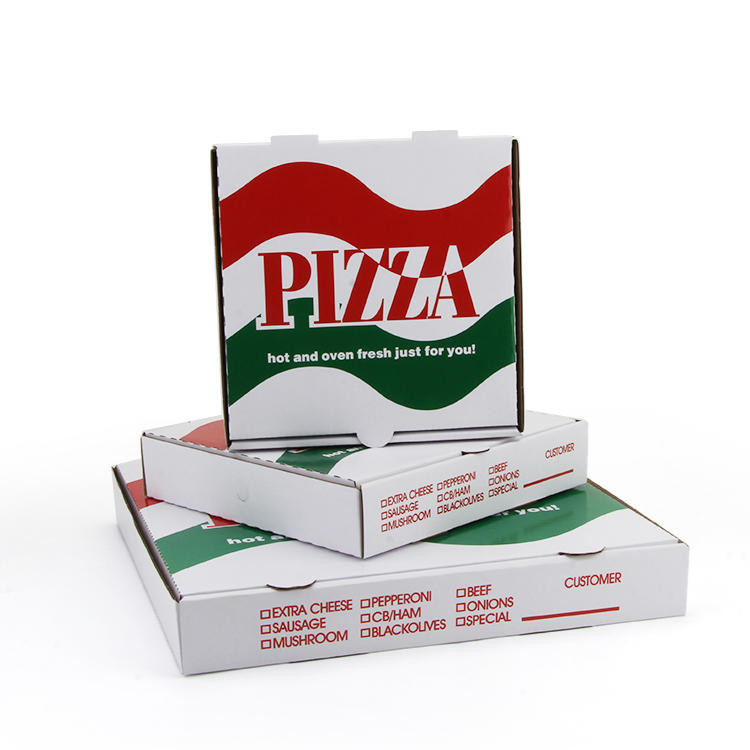 China HK factory High Quality custom Logo Paper pizza box custom printed Corrugated Pizza Box with colorful printing