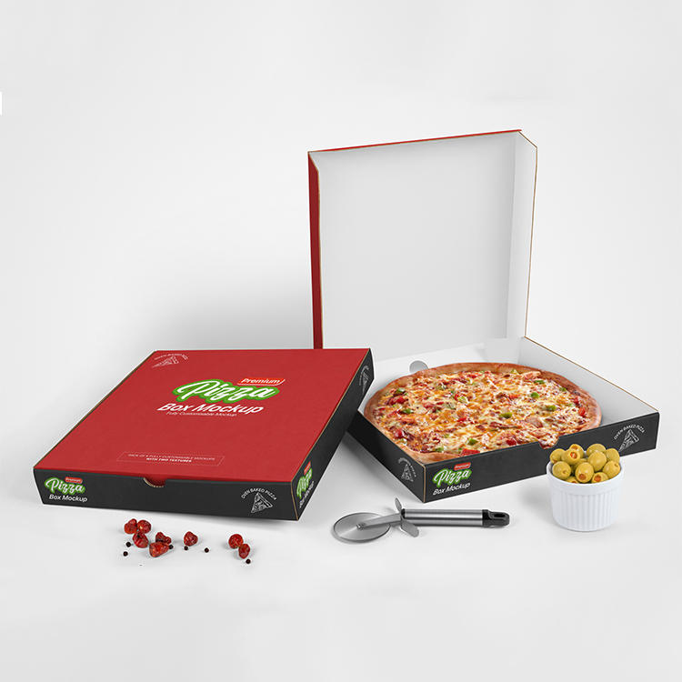 Custom various size portable printing pizza packaging box reusable corrugated delivery pizza box For Packaging