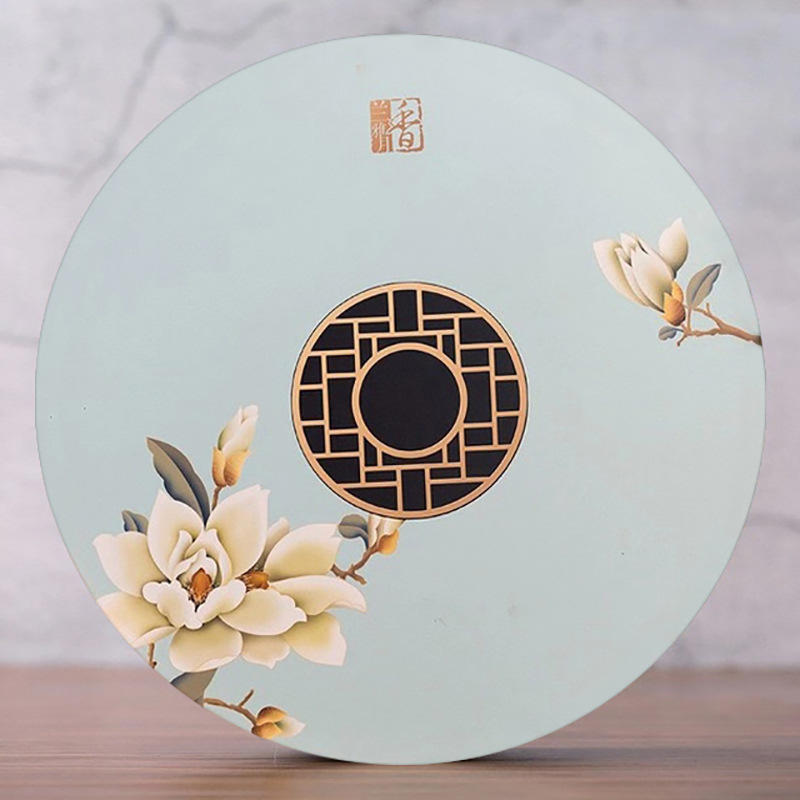 2021 New design Wholesale Customized gold foiling LOGO paper gift packaging high end quality mooncake box Hong Kong Mooncake Box Supplier