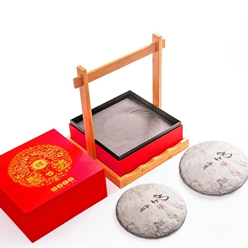 Wholesale Custom Logo Red Paper Moon Cake Cardboard Gift Packaging Box With CMYK printing High Quality Supplier In HK