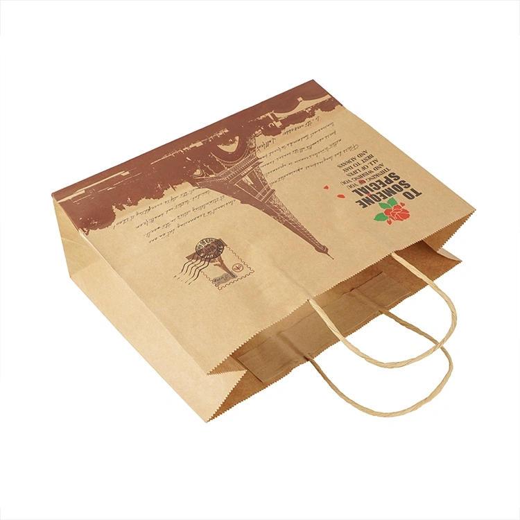 Hong Kong local Kraft paper bag take-out paper bag food paper bag strength supplier