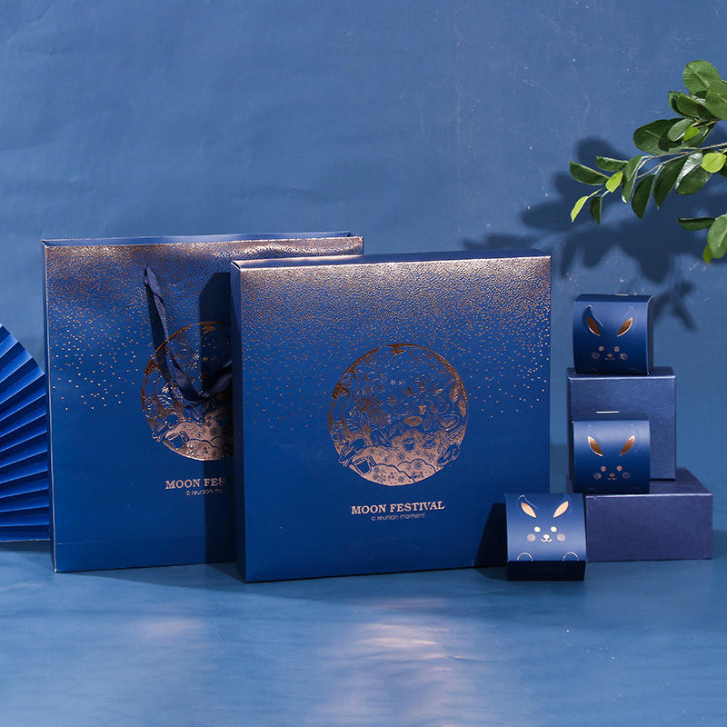 Hong Kong supplier custom design luxury Mid-autumn moon cake gift packaging box with insert