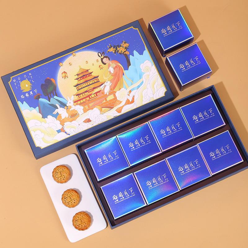 Hong Kong supplier customized high-end logo printed moon cake box