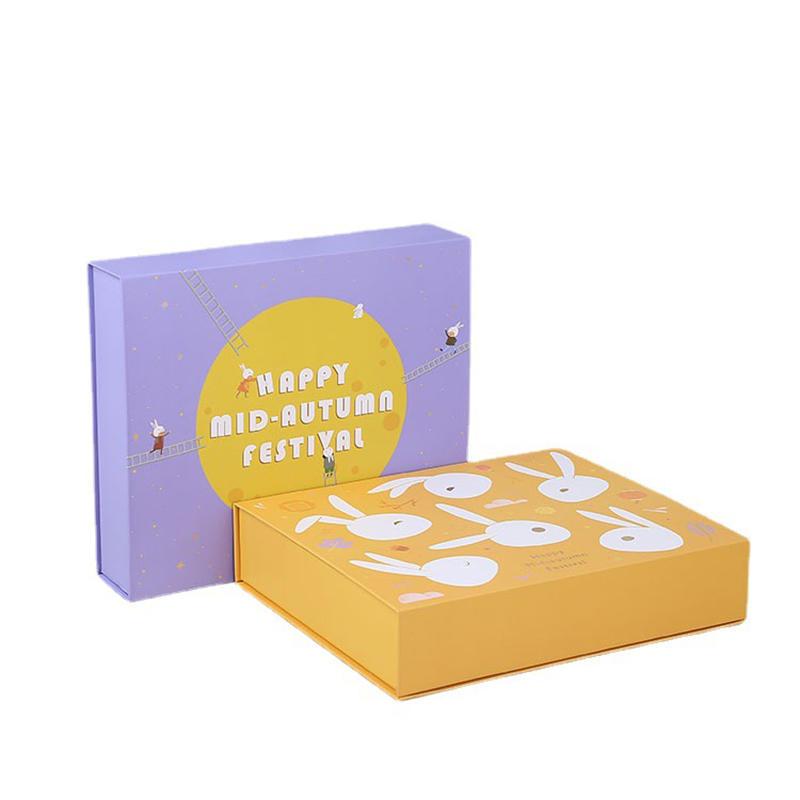 Hong Kong direct sale custom logo printing design packaging luxury moon cake box
