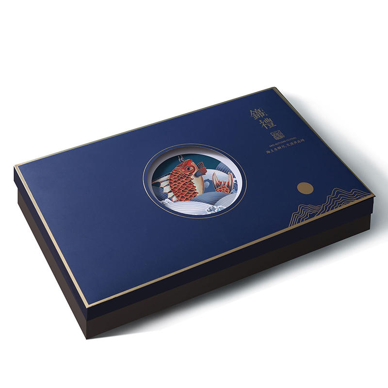 Hong Kong factory custom design/printing/logo high-end gift packaging box moon cake moon cake box with handle