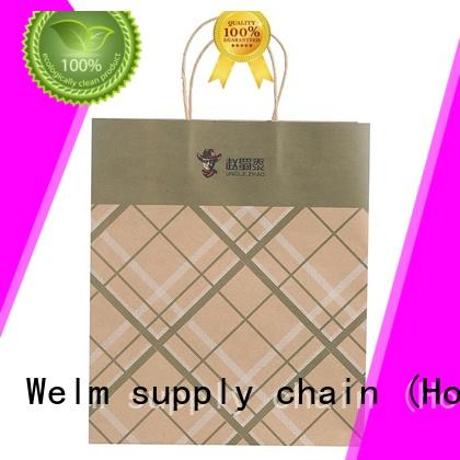 Welm handle cheap paper lunch bags suppliers for sale