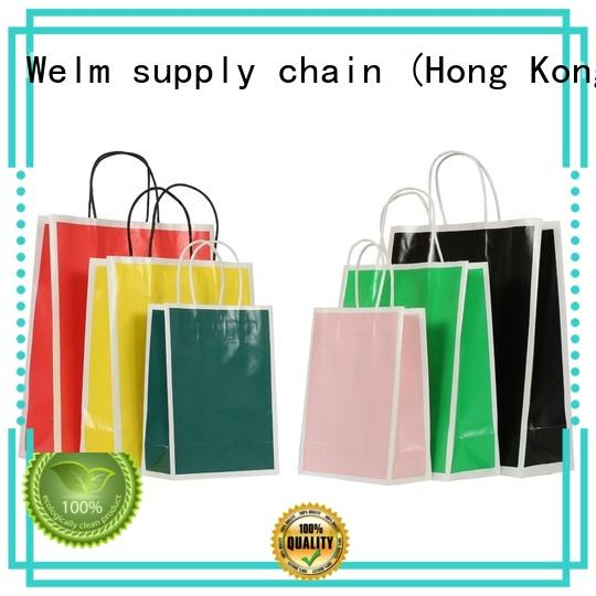 customized kraft paper gift bags with handles ziplock for business for shopping