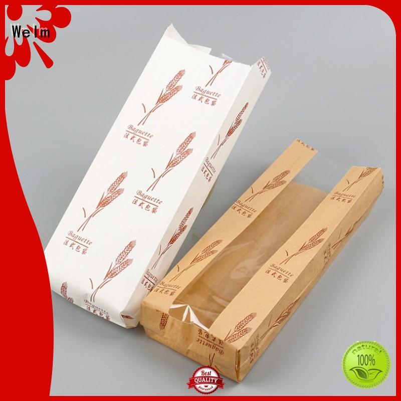 Welm handle brown paper bag packaging logo for sale