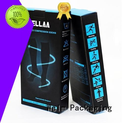 Welm wholesale blue box pharmaceutical packaging supply for facial cosmetic