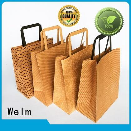 high-quality branded brown paper bags popcorn food for sale