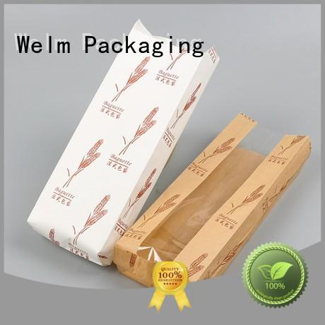 Welm gold bulk shopping bags paper with die cut handle for gift shopping
