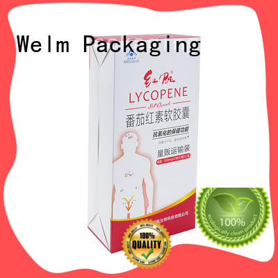 glossy custom printed shipping boxes wholesale standard with color printed food grade material for medicine