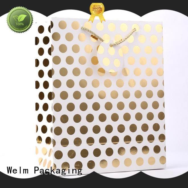 Welm waterproof brown paper gift bags food for shopping