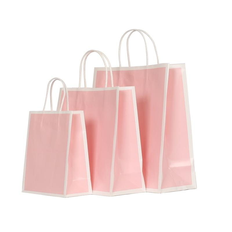 customized kraft paper gift bags with handles ziplock for business for shopping-3