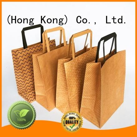 Welm shopping discount paper shopping bags with gold logo print for sale