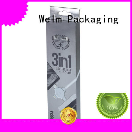 Welm quality packaging box product with pvc window for sale