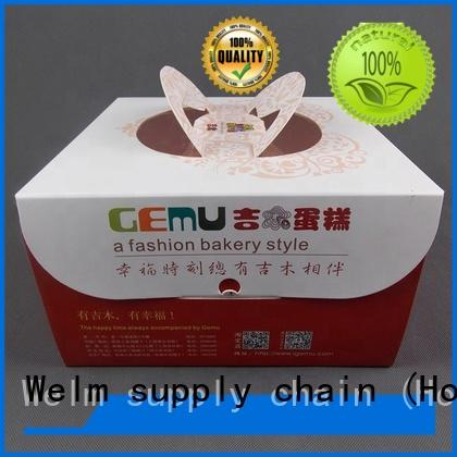Welm customized packing food boxes with color printed food grade material for sale